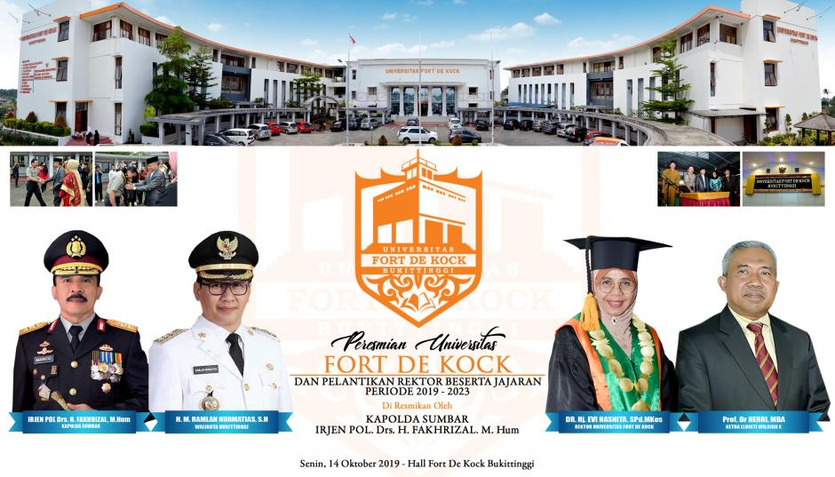 Peresmian Universitas Fort De Kock